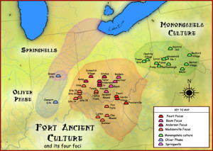 Fort Ancient Culture MAP