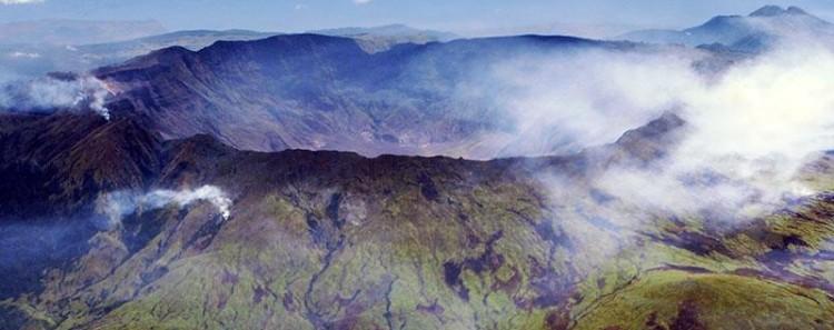 Tambora eruption 200 years ago caldera